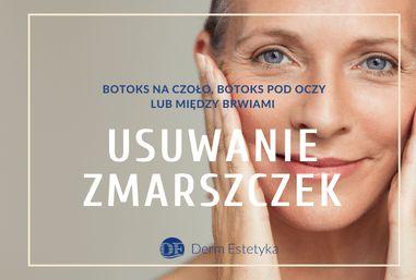 Botoks na czoło, botoks pod oczy lub między brwiami – usuwanie zmarszczek